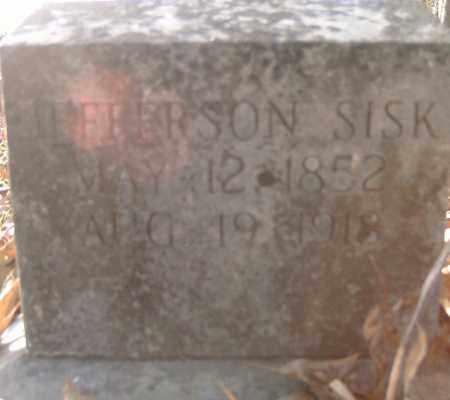 SISK,, JEFFERSON - Independence County, Arkansas   JEFFERSON SISK, - Arkansas Gravestone Photos