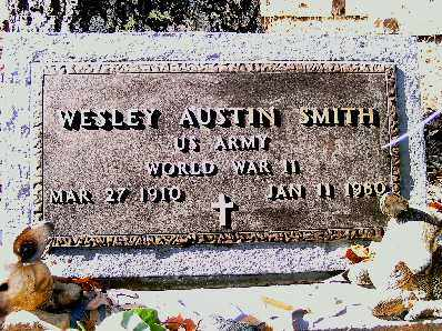 SMITH  (VETERAN WWII), WESLEY AUSTIN - Independence County, Arkansas | WESLEY AUSTIN SMITH  (VETERAN WWII) - Arkansas Gravestone Photos