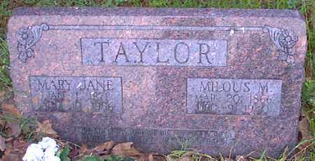 TAYLOR, MILOUS M. - Independence County, Arkansas | MILOUS M. TAYLOR - Arkansas Gravestone Photos