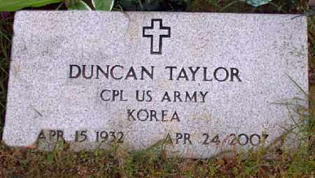 TAYLOR (VETERAN KOR), DUNCAN - Independence County, Arkansas | DUNCAN TAYLOR (VETERAN KOR) - Arkansas Gravestone Photos