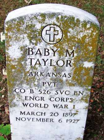 TAYLOR (VETERAN WWI), BABY M - Independence County, Arkansas | BABY M TAYLOR (VETERAN WWI) - Arkansas Gravestone Photos