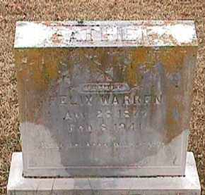WARREN, ALBERT FELIX - Independence County, Arkansas | ALBERT FELIX WARREN - Arkansas Gravestone Photos