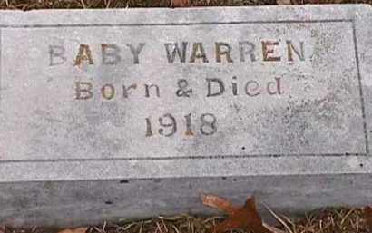 WARREN, BABY - Independence County, Arkansas | BABY WARREN - Arkansas Gravestone Photos