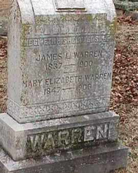LUSTER WARREN, MARY ELIZABETH - Independence County, Arkansas | MARY ELIZABETH LUSTER WARREN - Arkansas Gravestone Photos