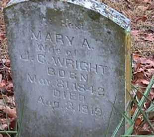 WRIGHT, MARY A - Independence County, Arkansas | MARY A WRIGHT - Arkansas Gravestone Photos