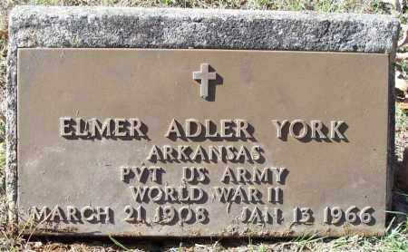 YORK  (VETERAN WWII), ELMER ADLER - Independence County, Arkansas | ELMER ADLER YORK  (VETERAN WWII) - Arkansas Gravestone Photos