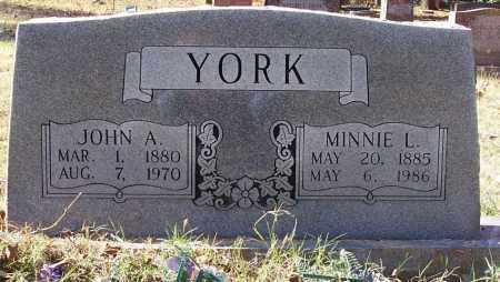 YORK, MINNIE L - Independence County, Arkansas | MINNIE L YORK - Arkansas Gravestone Photos