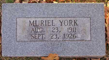 YORK, MURIEL - Independence County, Arkansas | MURIEL YORK - Arkansas Gravestone Photos