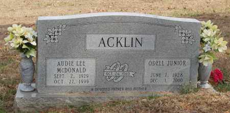 MC DONALD ACKLIN, AUDIE LEE - Izard County, Arkansas | AUDIE LEE MC DONALD ACKLIN - Arkansas Gravestone Photos
