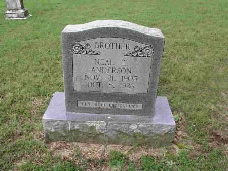 ANDERSON, NEAL T. - Izard County, Arkansas | NEAL T. ANDERSON - Arkansas Gravestone Photos