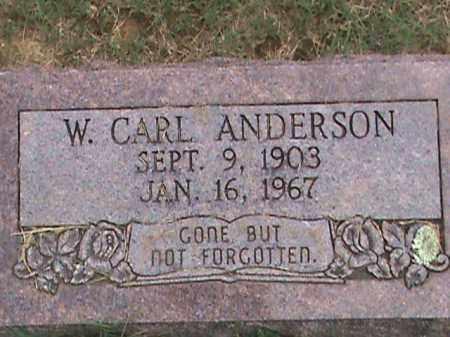 ANDERSON, W. CARL - Izard County, Arkansas | W. CARL ANDERSON - Arkansas Gravestone Photos