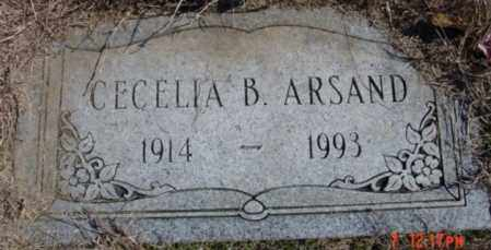 ARSAND, CECELIA B - Izard County, Arkansas | CECELIA B ARSAND - Arkansas Gravestone Photos