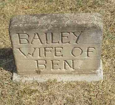 BAILEY, WIFE OF BEN BAILEY - Izard County, Arkansas | WIFE OF BEN BAILEY BAILEY - Arkansas Gravestone Photos