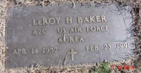 BAKER (VETERAN KOR), LEROY H - Izard County, Arkansas | LEROY H BAKER (VETERAN KOR) - Arkansas Gravestone Photos