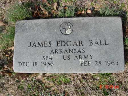 BALL  (VETERAN), JAMES EDGAR - Izard County, Arkansas | JAMES EDGAR BALL  (VETERAN) - Arkansas Gravestone Photos