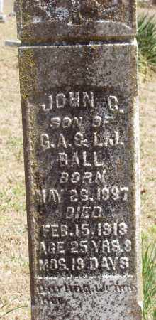 BALL, JOHN CALVIN - Izard County, Arkansas | JOHN CALVIN BALL - Arkansas Gravestone Photos