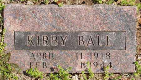 BALL, KIRBY - Izard County, Arkansas | KIRBY BALL - Arkansas Gravestone Photos