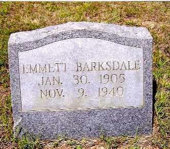 BARKSDALE, EMMETT - Izard County, Arkansas | EMMETT BARKSDALE - Arkansas Gravestone Photos