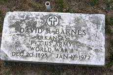 BARNES (VETERAN WWI), DAVID A. - Izard County, Arkansas | DAVID A. BARNES (VETERAN WWI) - Arkansas Gravestone Photos