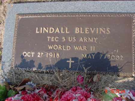 BLEVINS  (VETERAN WWII), LINDALL - Izard County, Arkansas | LINDALL BLEVINS  (VETERAN WWII) - Arkansas Gravestone Photos