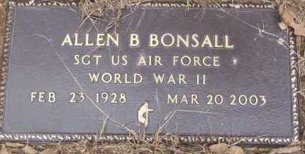 BONSALL (VETERAN WWII), ALLEN B - Izard County, Arkansas | ALLEN B BONSALL (VETERAN WWII) - Arkansas Gravestone Photos