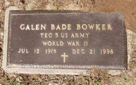 BOWKER (VETERAN WWII), GALEN BADE - Izard County, Arkansas | GALEN BADE BOWKER (VETERAN WWII) - Arkansas Gravestone Photos