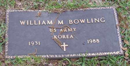 BOWLING  (VETERAN KOR), WILLIAM M - Izard County, Arkansas | WILLIAM M BOWLING  (VETERAN KOR) - Arkansas Gravestone Photos
