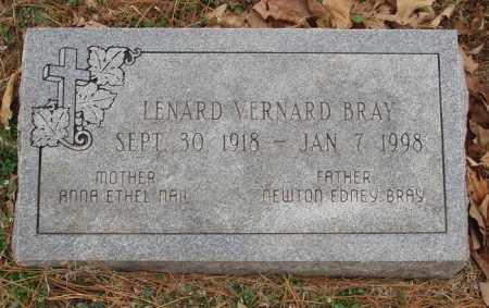 BRAY, LENARD VERNARD - Izard County, Arkansas | LENARD VERNARD BRAY - Arkansas Gravestone Photos