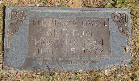 OWEN BRITTON, FLORENCE - Izard County, Arkansas | FLORENCE OWEN BRITTON - Arkansas Gravestone Photos