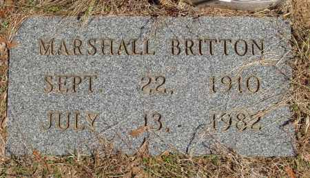 BRITTON, MARSHALL - Izard County, Arkansas | MARSHALL BRITTON - Arkansas Gravestone Photos