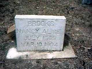 BROOKS, NANCY ALICE - Izard County, Arkansas | NANCY ALICE BROOKS - Arkansas Gravestone Photos