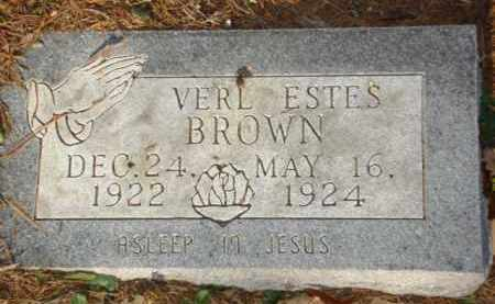 BROWN, VERL ESTES - Izard County, Arkansas | VERL ESTES BROWN - Arkansas Gravestone Photos