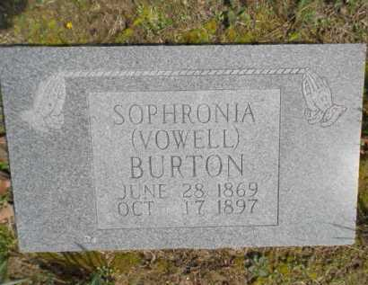 BURTON (2), MARTHA JANE SOPHRONIA - Izard County, Arkansas | MARTHA JANE SOPHRONIA BURTON (2) - Arkansas Gravestone Photos