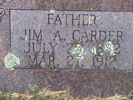 CARDER, JIM A. - Izard County, Arkansas | JIM A. CARDER - Arkansas Gravestone Photos