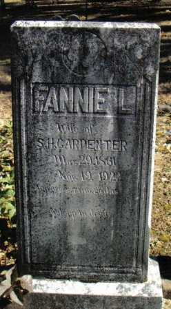 "CARPENTER, FRANCES LOMNIZA ""FANNIE"" - Izard County, Arkansas 