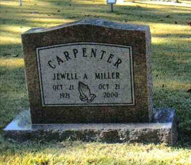 MILLER CARPENTER, JEWELL AUDREY - Izard County, Arkansas | JEWELL AUDREY MILLER CARPENTER - Arkansas Gravestone Photos