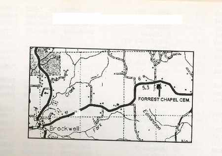 *, FORREST CHAPEL MAP - Izard County, Arkansas | FORREST CHAPEL MAP * - Arkansas Gravestone Photos