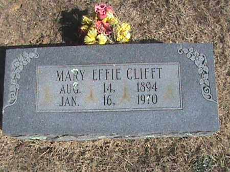 CLIFFT, MARY EFFIE - Izard County, Arkansas | MARY EFFIE CLIFFT - Arkansas Gravestone Photos