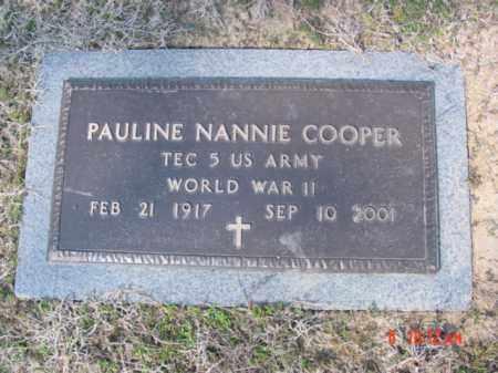 COOPER  (VETERAN WWII), PAULINE NANNIE - Izard County, Arkansas | PAULINE NANNIE COOPER  (VETERAN WWII) - Arkansas Gravestone Photos