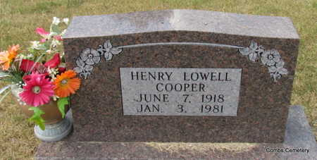 COOPER, HENRY LOWELL - Izard County, Arkansas | HENRY LOWELL COOPER - Arkansas Gravestone Photos