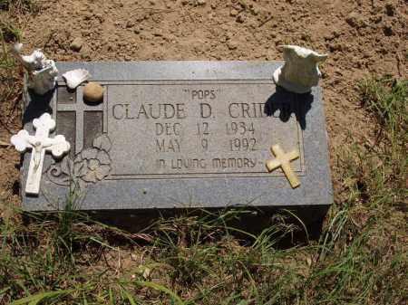 "CRIDER, CLAUDE D ""POPS"" - Izard County, Arkansas | CLAUDE D ""POPS"" CRIDER - Arkansas Gravestone Photos"