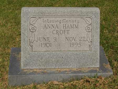 HAMM CROFT, ANNA - Izard County, Arkansas | ANNA HAMM CROFT - Arkansas Gravestone Photos