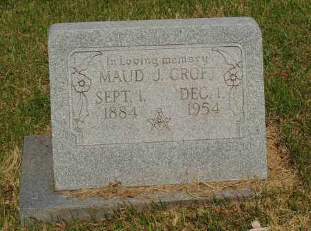 CROFT, MAUD J - Izard County, Arkansas | MAUD J CROFT - Arkansas Gravestone Photos