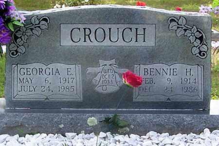 CROUCH, BENNIE H. (OBIT) - Izard County, Arkansas | BENNIE H. (OBIT) CROUCH - Arkansas Gravestone Photos