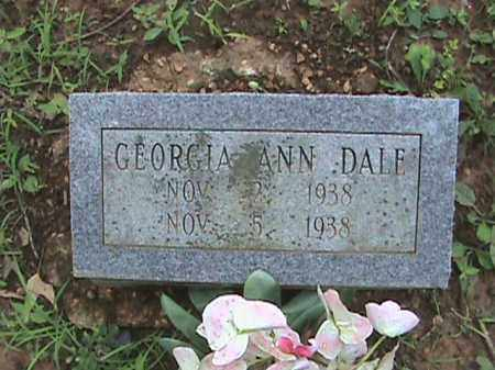 DALE, GEORGIA ANN - Izard County, Arkansas | GEORGIA ANN DALE - Arkansas Gravestone Photos
