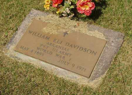 DAVIDSON  (VETERAN WWI), WILLIAM ELI - Izard County, Arkansas | WILLIAM ELI DAVIDSON  (VETERAN WWI) - Arkansas Gravestone Photos