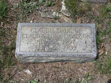 DAVIDSON, CLAUDIA - Izard County, Arkansas | CLAUDIA DAVIDSON - Arkansas Gravestone Photos