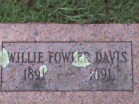 DAVIS, WILLIE FOWLER - Izard County, Arkansas | WILLIE FOWLER DAVIS - Arkansas Gravestone Photos