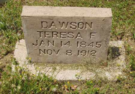 DAWSON, THERESA F - Izard County, Arkansas | THERESA F DAWSON - Arkansas Gravestone Photos