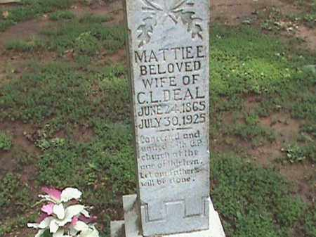 DEAL, MATTIE E. - Izard County, Arkansas | MATTIE E. DEAL - Arkansas Gravestone Photos